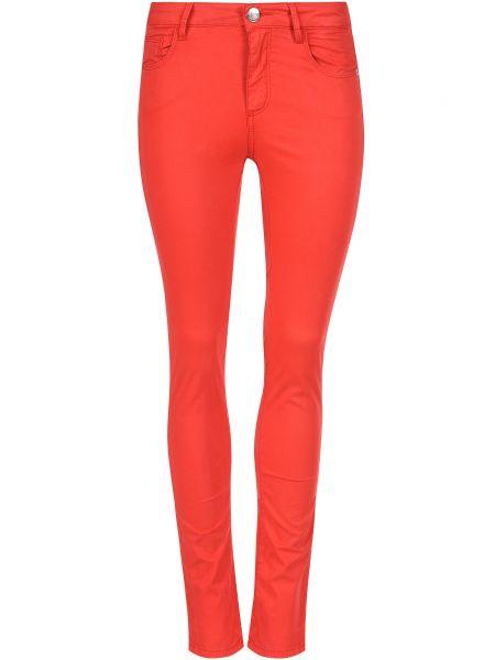 Хлопковые брюки - красные Trussardi Jeans