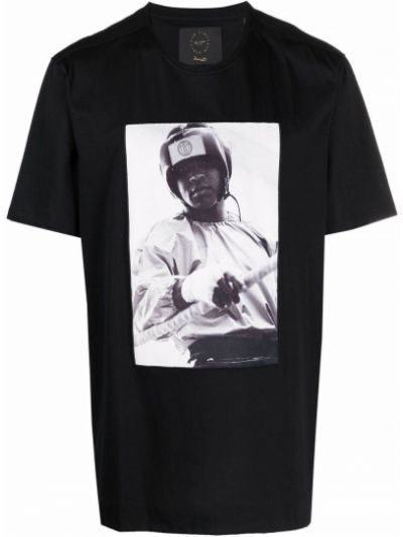 Czarna t-shirt z printem Limitato