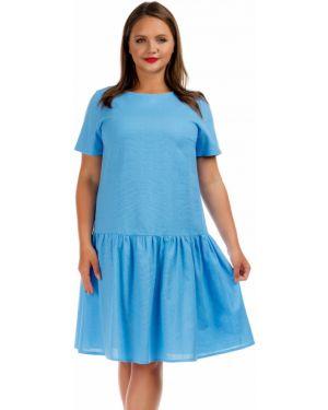 Повседневное платье мини - голубое Liza Fashion