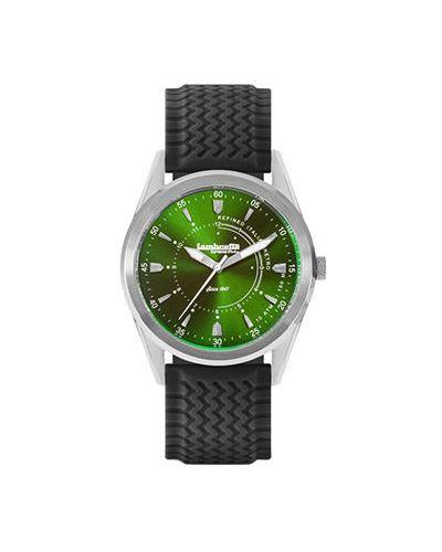 Кварцевые часы зеленый стрелочные Lambretta