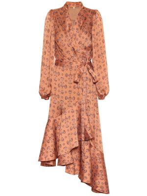 Платье миди пляжное с мехом Johanna Ortiz