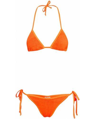 Оранжевые нейлоновые бикини Hunza G