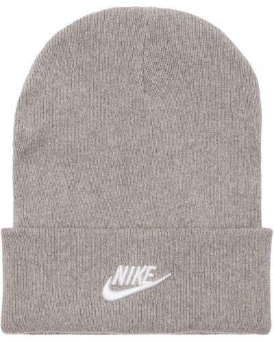 Шапка с логотипом - серая Nike