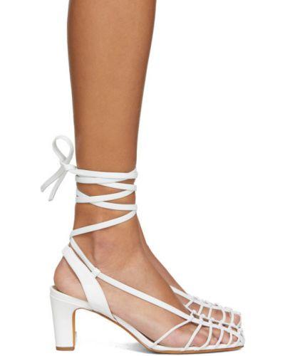 Białe sandały skorzane Maryam Nassir Zadeh