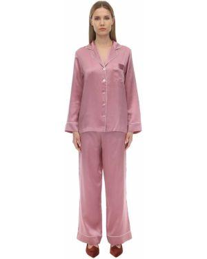 Пижама в полоску с карманами Luna Di Seta
