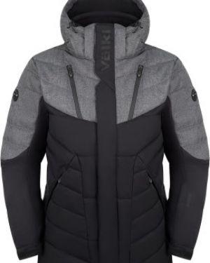 Прямая черная куртка с капюшоном на молнии с карманами VÖlkl