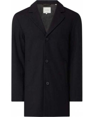 Płaszcz wełniany - niebieski Jack & Jones