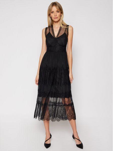 Czarna sukienka koktajlowa Twinset