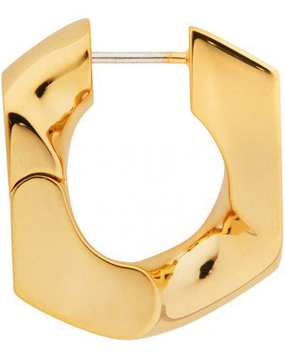 Серьги-кольца золотые Numbering