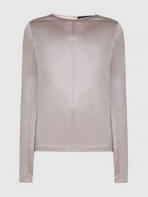 Серая шелковая блузка Sally Lapointe