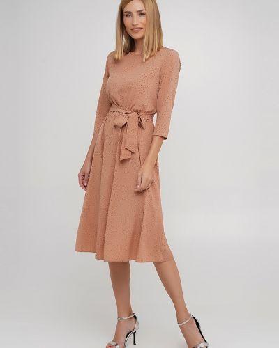 Платье с поясом - бежевое Anastasimo