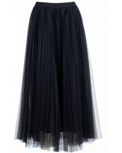 Плиссированная юбка миди из фатина Fabiana Filippi