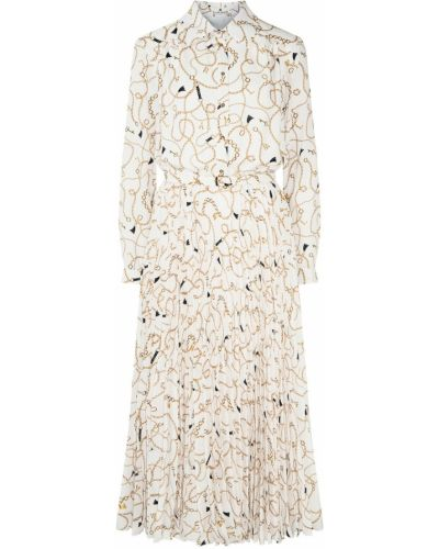 Повседневное платье миди с поясом из вискозы Laroom