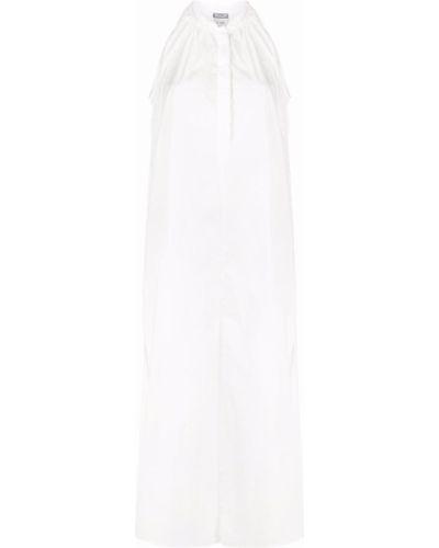 Хлопковое белое платье миди без рукавов Kristensen Du Nord