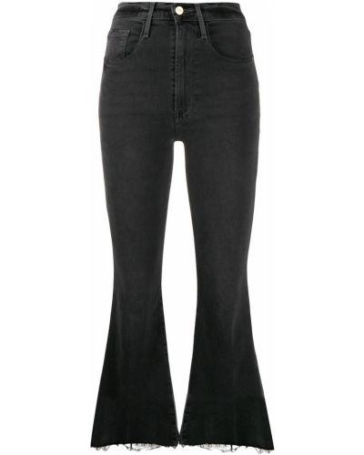 Укороченные джинсы свободные расклешенные Frame