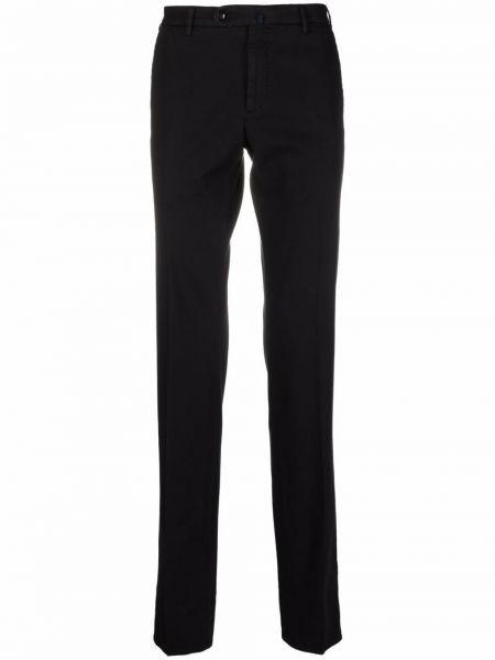 Хлопковые черные брюки стрейч Incotex