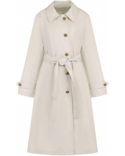 Серое пальто с поясом Proenza Schouler