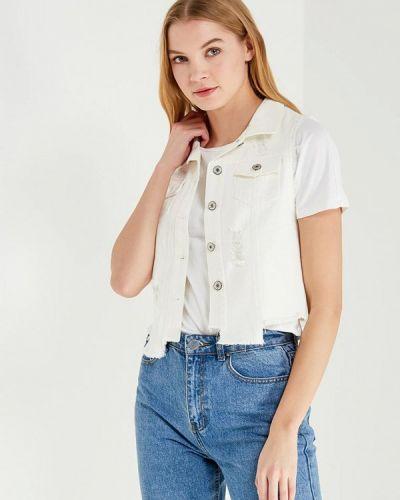 Жилетка белый джинсовая Marissimo