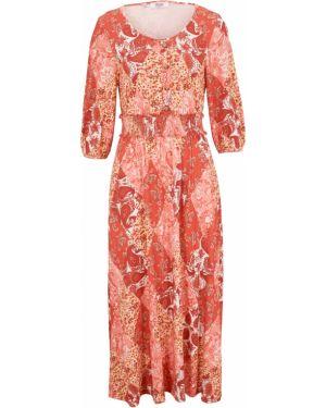 Платье с поясом с рукавами с длинными рукавами Bonprix