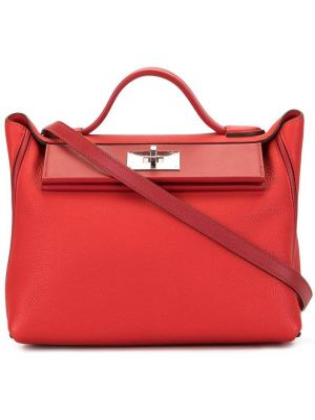 Сумка с ручками красная Hermès