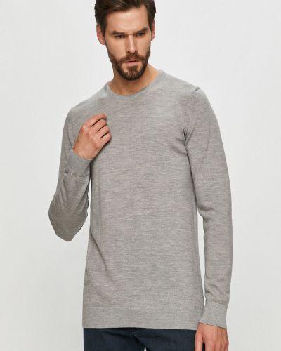 Szary sweter wełniany z długimi rękawami Clean Cut Copenhagen