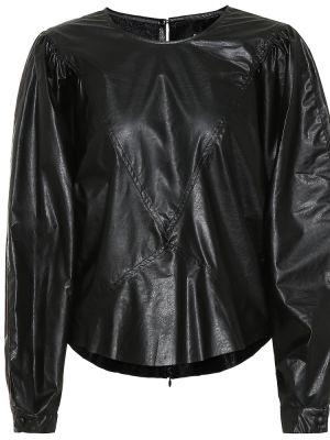 Текстильный черный топ Isabel Marant