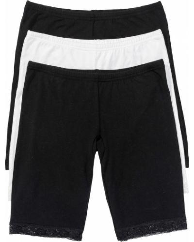 Кружевные трусы панталоны черные Bonprix
