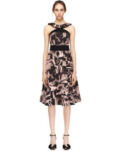 Платье миди с оборками с абстрактным принтом Giles