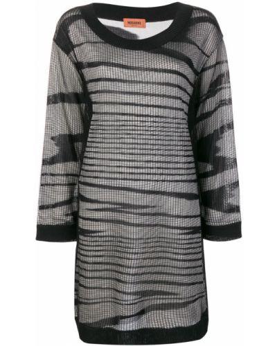 Платье мини с вырезом с длинными рукавами Missoni