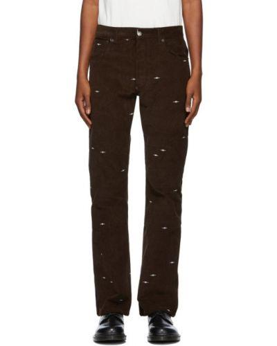 Брючные белые брюки с вышивкой с поясом Phipps