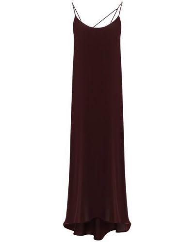 Красное шелковое платье с подкладкой Isabel Benenato