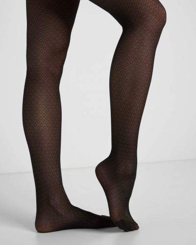Ażurowe rajstopy - czarne Orsay