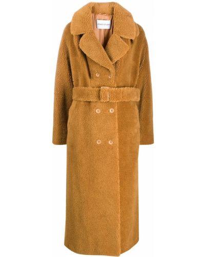 Длинное пальто с капюшоном Stand
