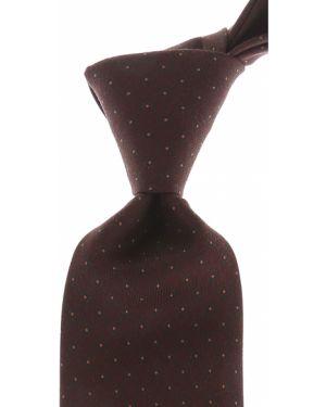 Czarny krawat z jedwabiu Borrelli