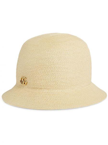 Beżowy kapelusz Gucci