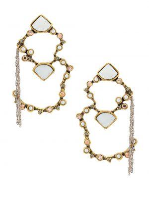 Золотистые желтые серьги металлические с бабочкой Camila Klein