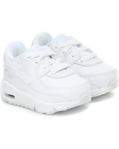 Skórzany biały sneakersy Nike Kids