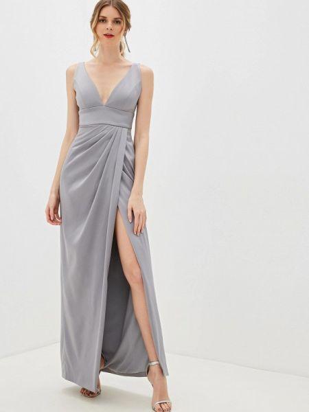 Серое вечернее платье Ruxara