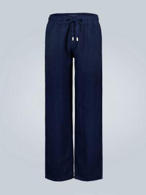 Льняные спортивные брюки - синие Vilebrequin