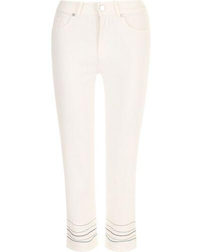 Укороченные джинсы белые Loro Piana