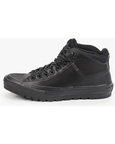 Черные текстильные кеды Converse