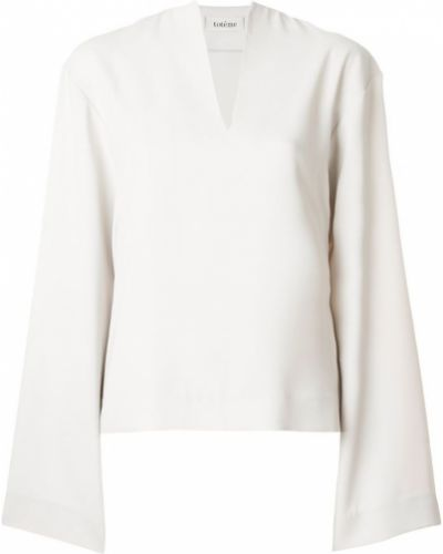 Блузка с широкими рукавами белая Toteme