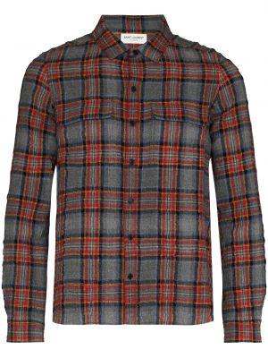 Flanelowa koszula - pomarańczowa Saint Laurent