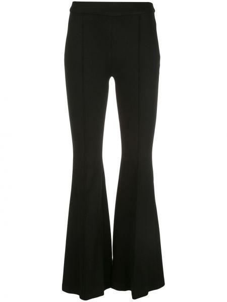 Черные нейлоновые расклешенные брюки с поясом Rosetta Getty