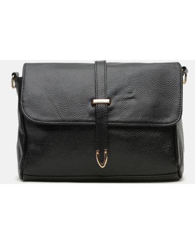 Кожаная сумка - черная Laras