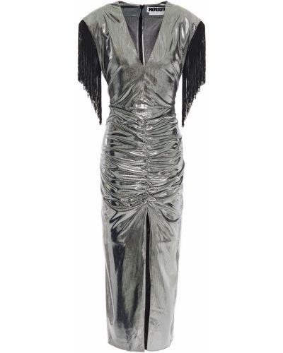 Sukienka midi srebrna Rotate Birger Christensen