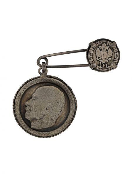 Серебряная брошь металлическая с подвесками Gianfranco Ferre Pre-owned