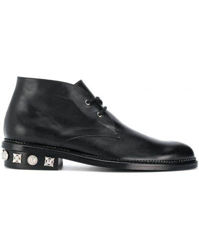Черные кожаные туфли на каблуке Toga Virilis