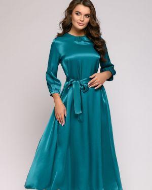 Расклешенное вечернее платье на пуговицах с карманами из вискозы 1001 Dress