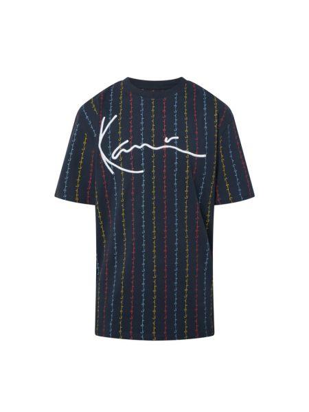 Niebieski pasek w paski bawełniany Karl Kani